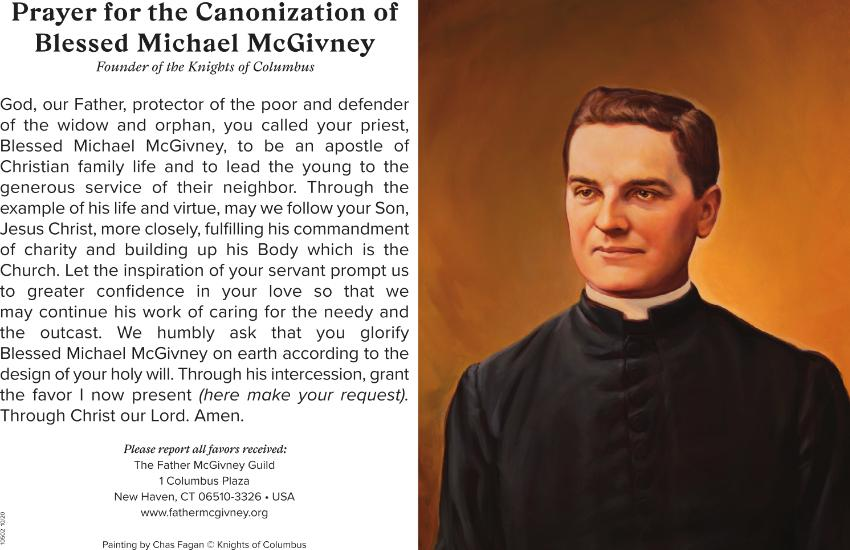 Prayer for the Canonization