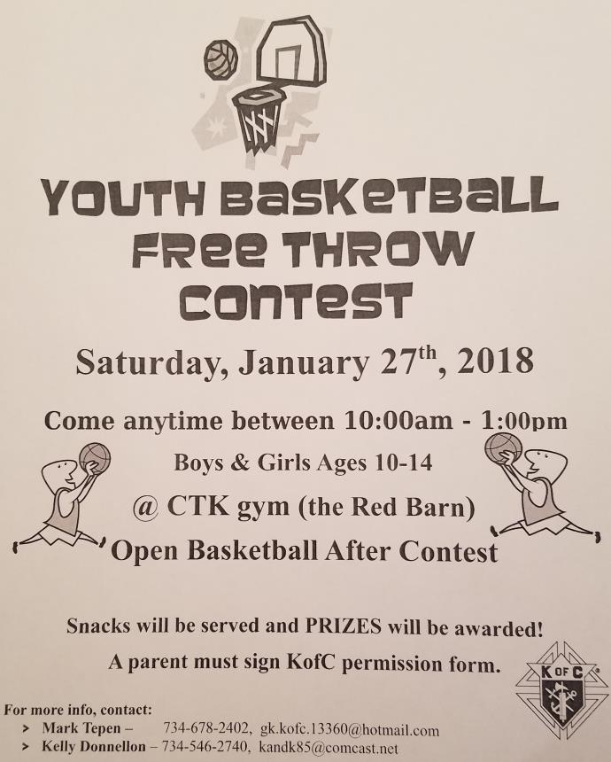 2018 Free Throw Flyer